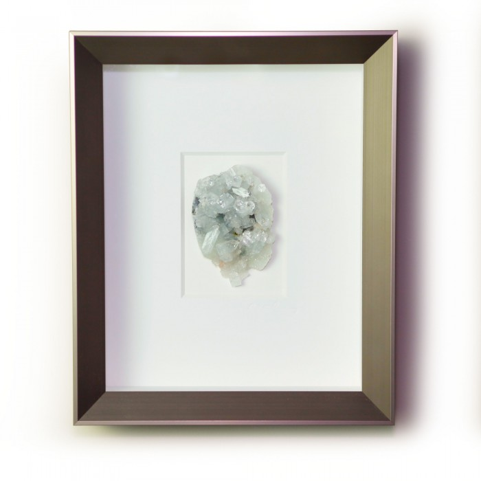 8 x 10 Apophyllite on Chalcedony – white & gray coloration  1
