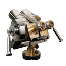 Russian TZK 10×80 Binoculars on Wood & Steel Tripod 4
