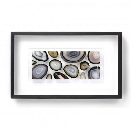 32 x 20 Agate Slice Mosaic - Cool Earthtones