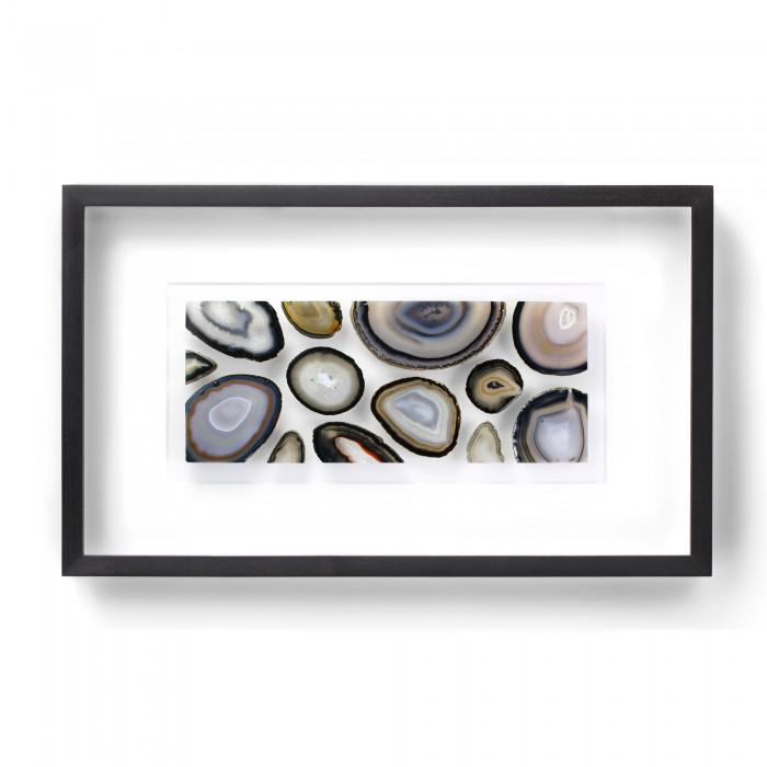 32 x 20 Agate Slice Mosaic – Cool Earthtones 1