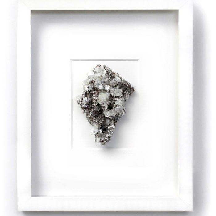 11 x 14 Mineral Apophyllite Stilbite on Chalcedony 1