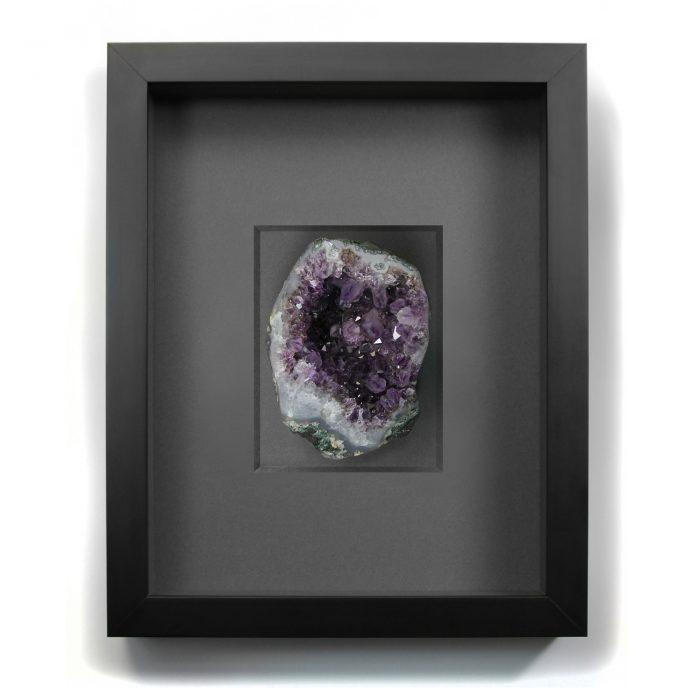 11 x 14 Mineral Apophyllite Purple 1