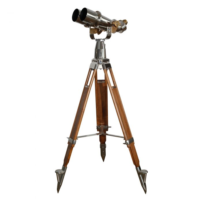 15×80 Japanese (Yashima Tokyo) Binoculars on Wooden and Steel Tripod 1