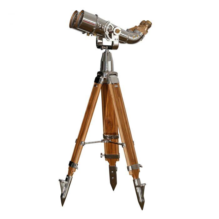 20×120 (70 Degree) Japanese Binoculars on Wood Tripod 1