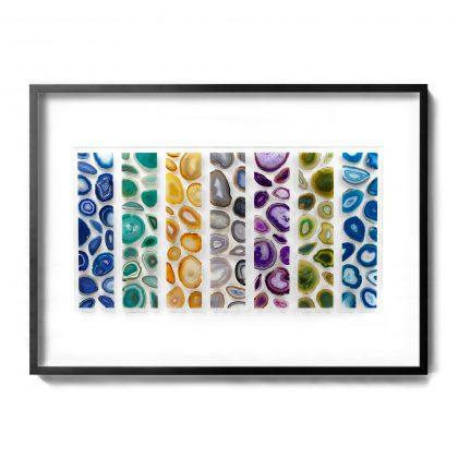 Framed 60 x 40 Brazilian Agates