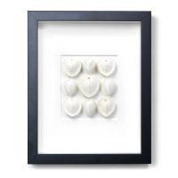 11 x 14 White Sea Hearts