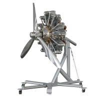 Jacobs R-755A 7 Cylinder Air Cooled Radial Engine with 3 blade prop 2