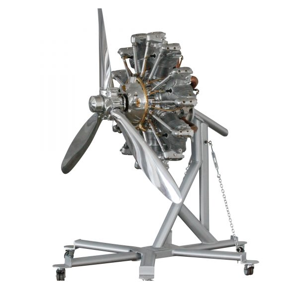 Jacobs R-755A 7 Cylinder Air Cooled Radial Engine with 3 blade prop