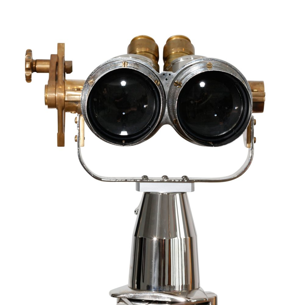 15x80 Japanese (Yashima Tokyo) Binoculars on Wooden and Steel Tripod