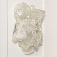 8 x 10 Apophyllite on Chalcedony – white & apricot coloration 3