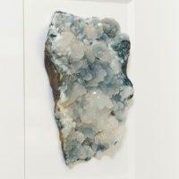 8 x 10 Stilbite and Chalcedony – white & dark gray coloration 2