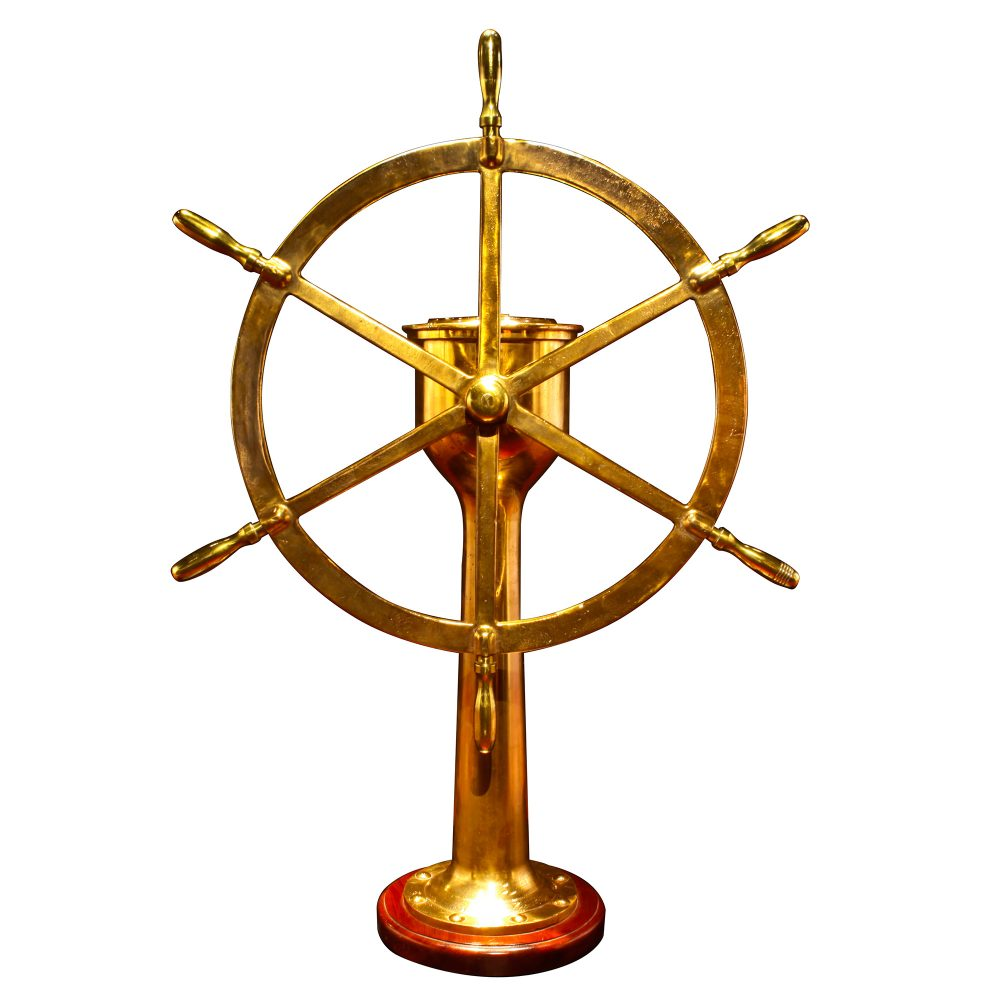 American Brass Ships Station with Binnacle
