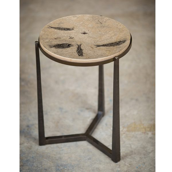 Fossil Stone Drink Table (Round) 170213508t